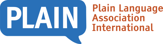 Logo for Plain Language Association International (PLAIN)